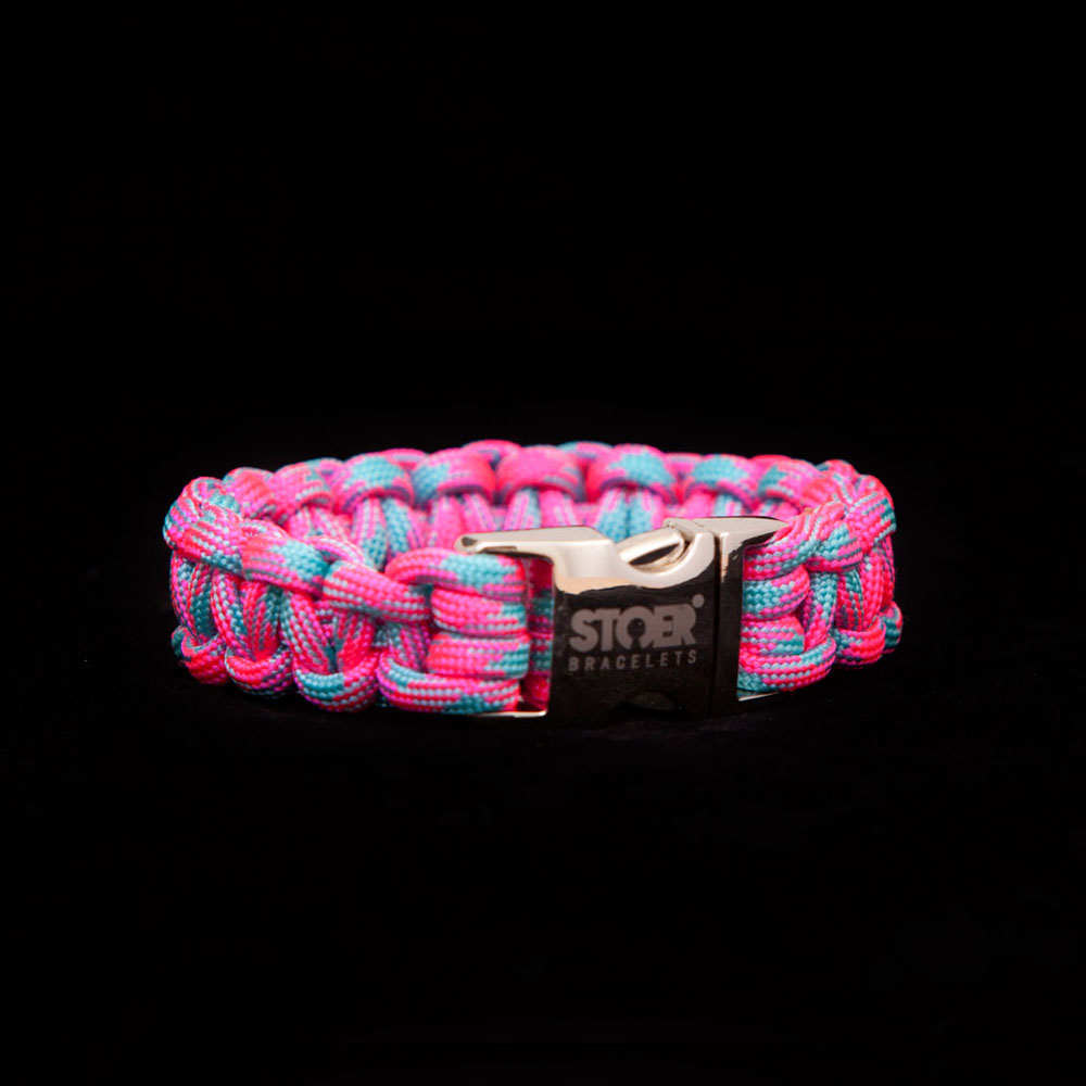 Paracord neon roze/neon turquise 15+20mm