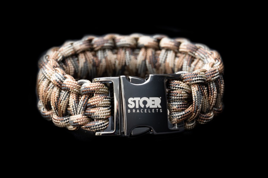 Paracord  XL black camo brown cobra