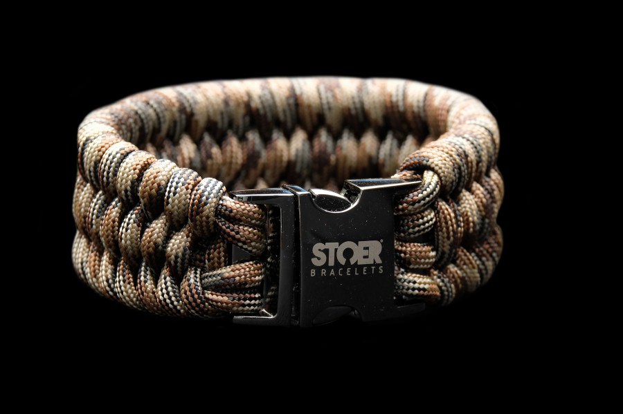 Paracord  XL black camo brown fishtail