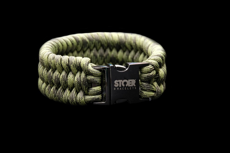 Paracord  XL black camo fishtail