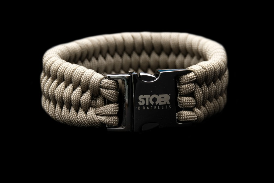 Paracord XL black taupe fishtail