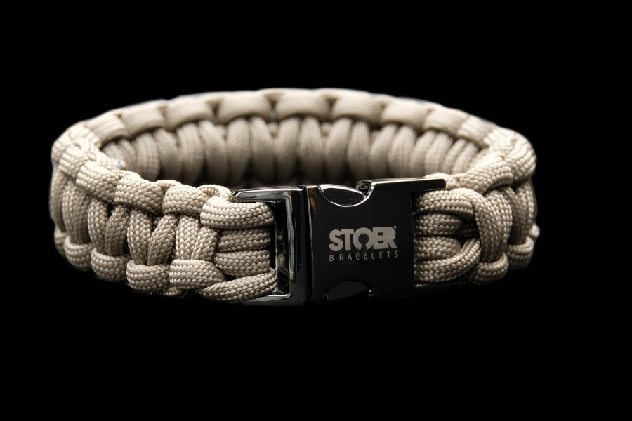 Paracord black 20mm  taupe cobra