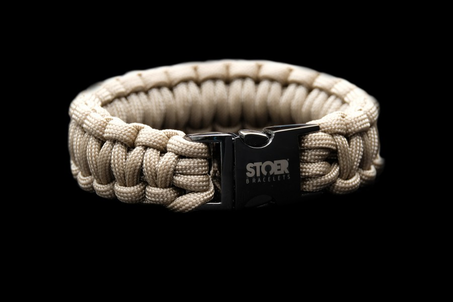 Paracord black 20mm zand cobra