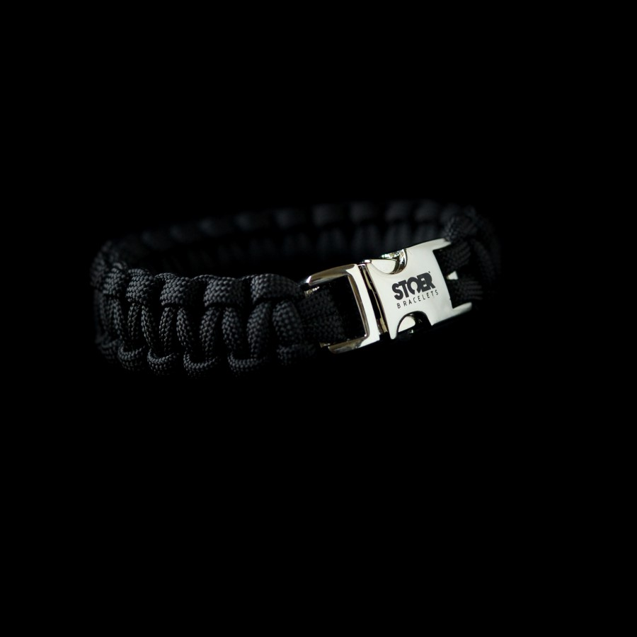 Paracord armband Zwart 15+20mm