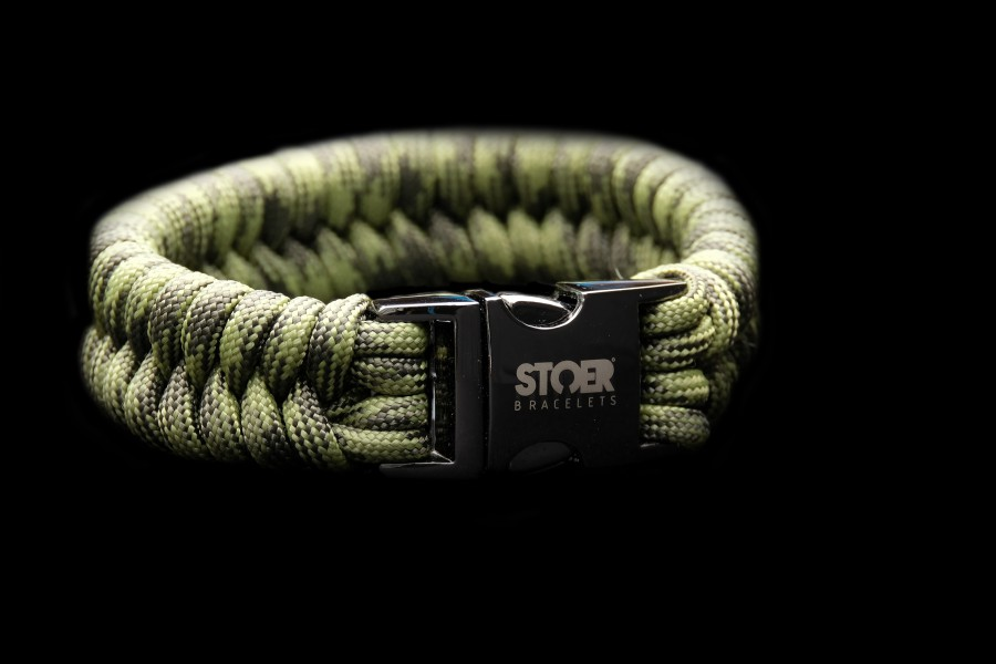 Paracord black 20mm camoflage fishtail
