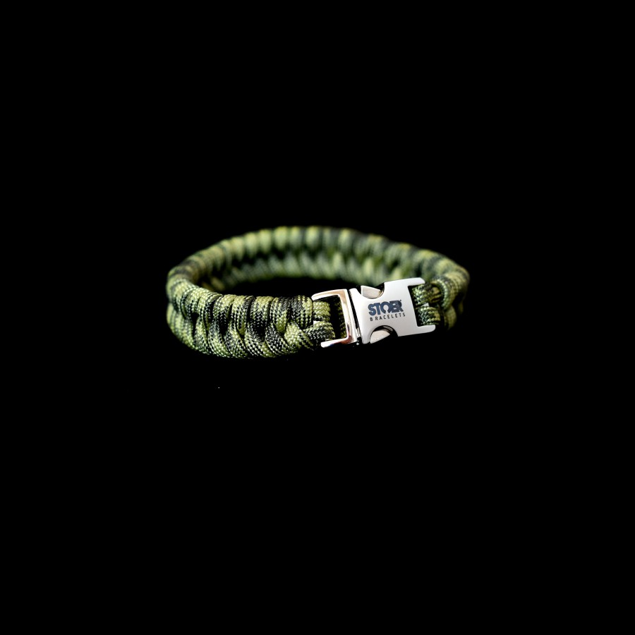 Paracord camogroen fishtail 15mm