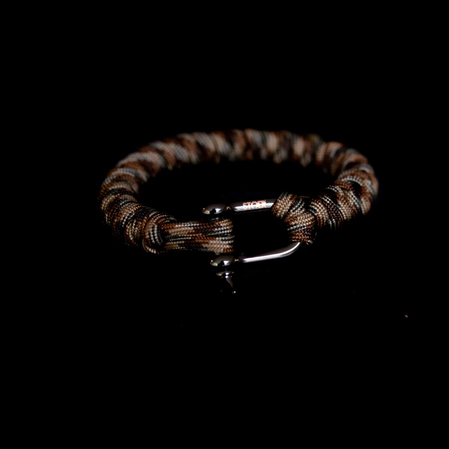 D shackle 20mm  Camobrown